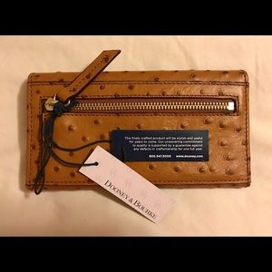 Dooney & Bourke Bags - Dooney & Bourke Ostrich Leather Continental Clutch